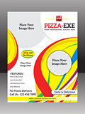 abstract colorful pizza flyer