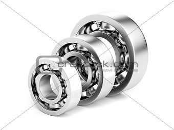 Three different ball bearings