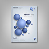 Brochures book or flyer with abstract blue balls