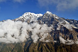 Mountain Landscape and cloud in Himalaya.