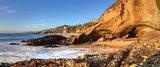Blue sky over the coastline of One Thousand Steps Beach