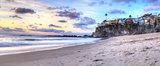 Sunset over the coastline of One Thousand Steps Beach
