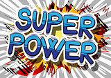 Super Power - Comic book style word.