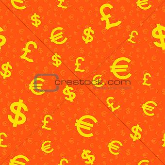 Money falling seamless background