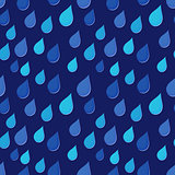 Rain drops falling obliquely seamless background