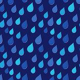 Rain drops falling obliquely seamless background