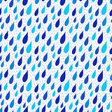 Rain drops falling seamless background