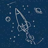 cute space travel