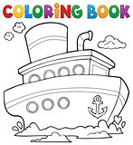 Coloring book nautical ship 1