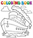 Coloring book nautical ship 2