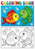 Coloring book with fish theme 5