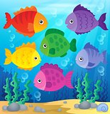 Stylized fishes theme image 2