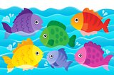 Stylized fishes theme image 4