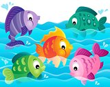 Stylized fishes theme image 5