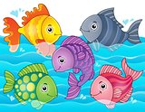 Stylized fishes theme image 7