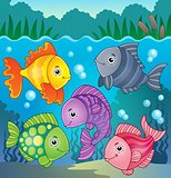 Stylized fishes theme image 8