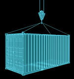 X-Ray Image Of Shipping container with hook