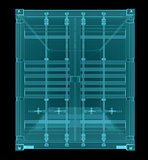 Shipping container. X-ray image