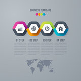 Infographic design template 4 options