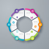 Vector circle infographic template for graphs