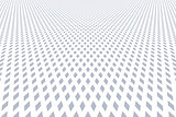 Diamonds pattern. Perspective view.