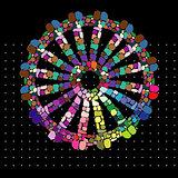 Rainbow Gypsy Wheel