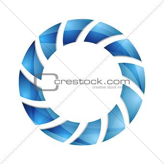 Blue abstract concept circle logo design