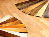 New planks of oak parquet