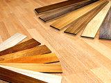 New planks of oak parquet