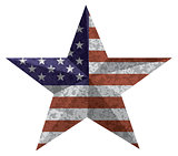 4th of July Star Oultine with USA Flag Texture Illustration