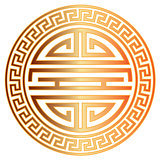 Chinese Longevity Symbol with Border Illustration