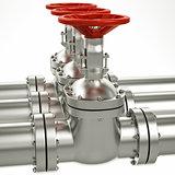 3d metal gas pipe line valves