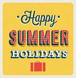 Happy Summer Holidays typographic design.