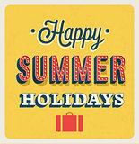 Happy Summer Holidays typographic design.