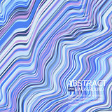 Vector warped lines background. Flexible stripes twisted as silk forming volumetric folds. Colorful variable width stripes with shadows and highlights. Vector illustration