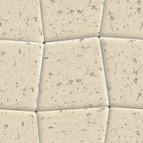Seamless background of sidewalk tiles, vector illustration.