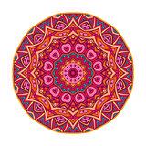 round mandala ornamental symbol