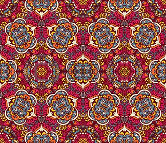 Abstract geometric mosaic seamless pattern