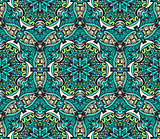 green floral mosaic pattern