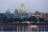 Harrisburg Pennsylvania at Dusk