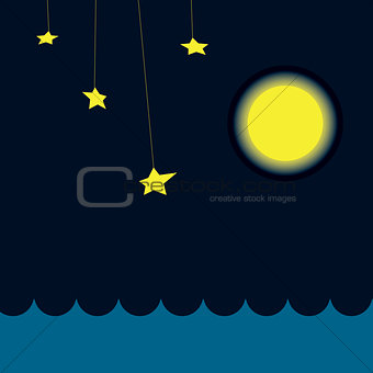 Application on theme of night sea