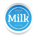 Milk lettering stamp blue