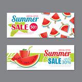 Summer sale voucher background template. Discount coupon. Banner