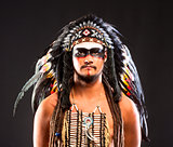 Native American Indian Chief War Bonner