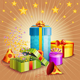 Composition Of Gift Box And Different Elements