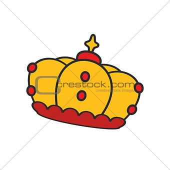 Crown vector illustration isolated on white background