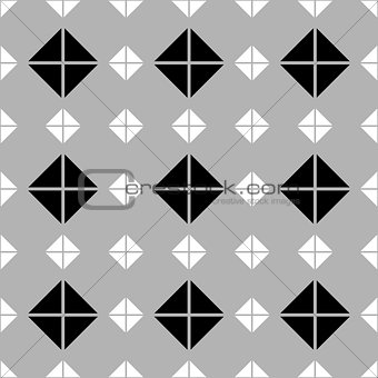Tile vector pattern with grey, black and white background