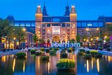 Rijksmuseum building famous landmark in Amsterdam