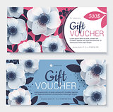 Gift voucher, coupon template.