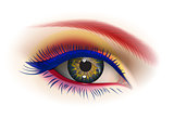 Female eye makeup